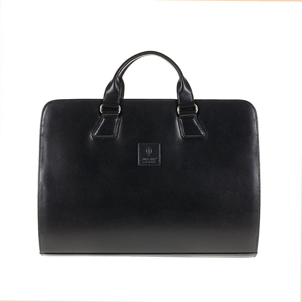 Tuscans 'Yuan' Men's Leather Briefcase Briefcase Tuscans Black