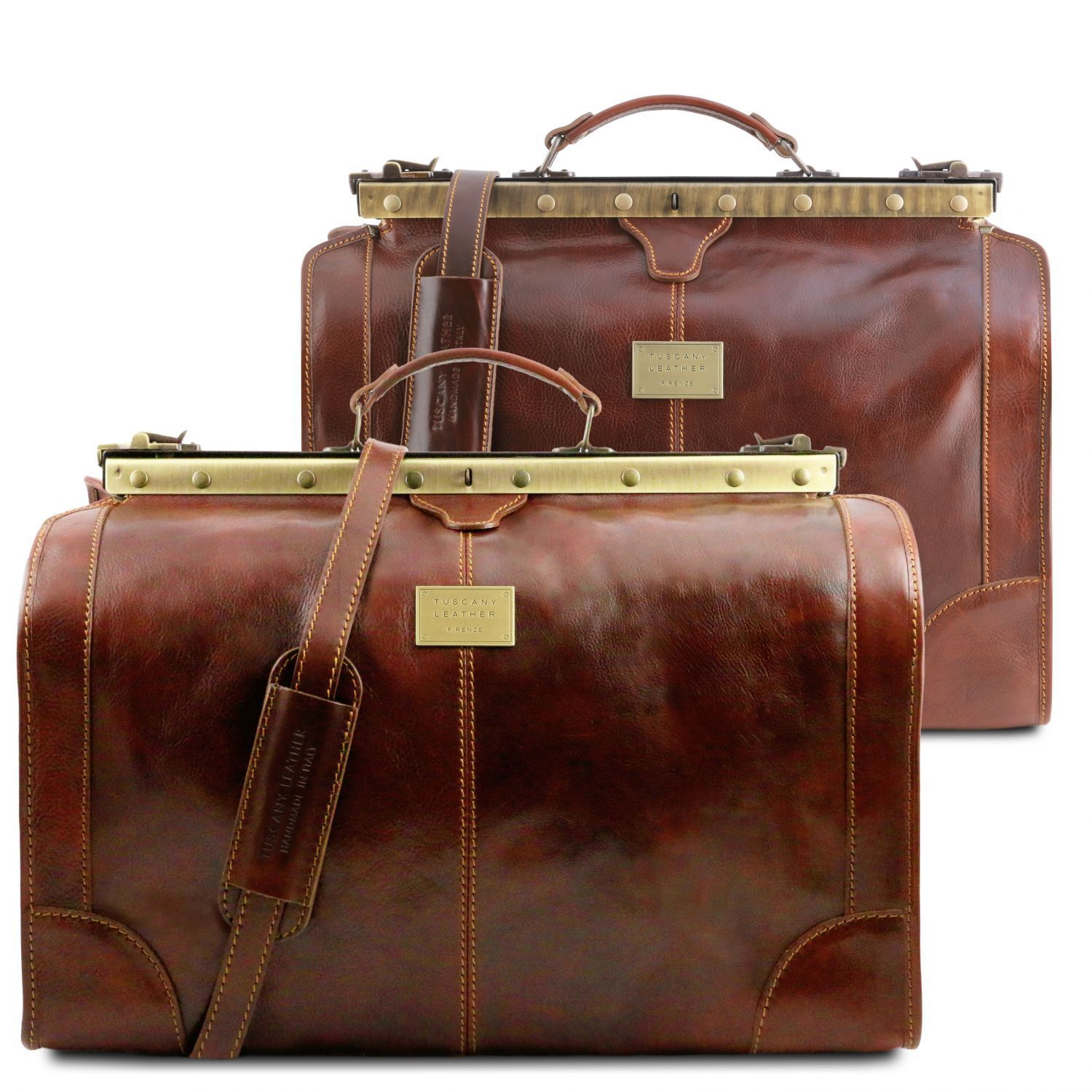 Tuscany Leather 'Madrid' Travel Set Gladstone Bags