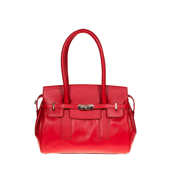 Tuscans 'Marmoraia' Women's Leather Handbag Handbag Tuscans Red