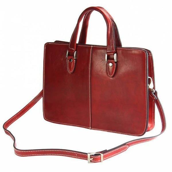 "Made In Tuscany ""Rolando"" Leather Cross-Body Shoulder Bag Crossbody Bag Made in Tuscany"