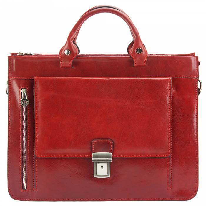 Made In Tuscany 'Donato' Leather Briefcase Laptop Briefcase Made in Tuscany Dark Red