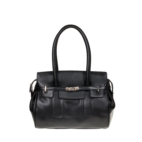 Tuscans 'Marmoraia' Women's Leather Handbag Handbag Tuscans Black
