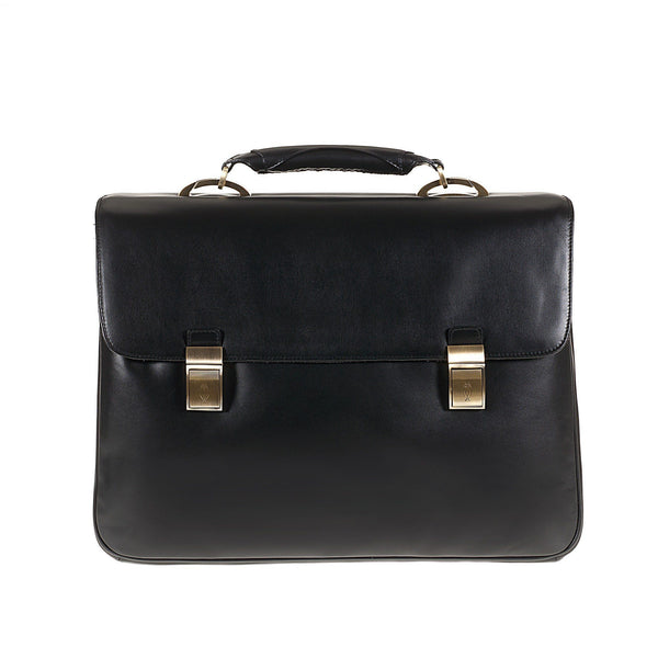 Tuscans 'Sterlina' Men's Leather Briefcase Briefcase Tuscans Black