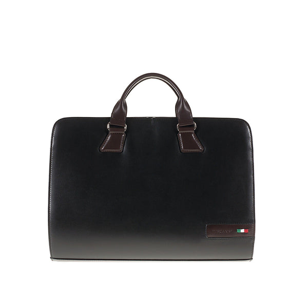 Tuscans 'Spica' Men's Leather Briefcase Briefcase Tuscans Black/Brown