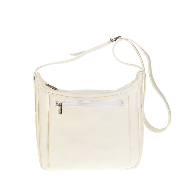 Tuscans 'Celsa' Women's Leather Shoulder Bag Ladies Shoulder Bag Tuscans White