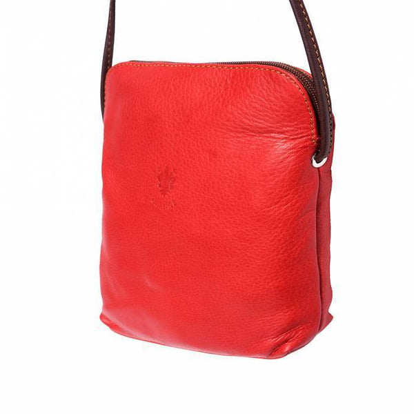 "Made In Tuscany ""Mia Gm"" Leather Cross-Body Shoulder Bag Crossbody Bag Made in Tuscany"
