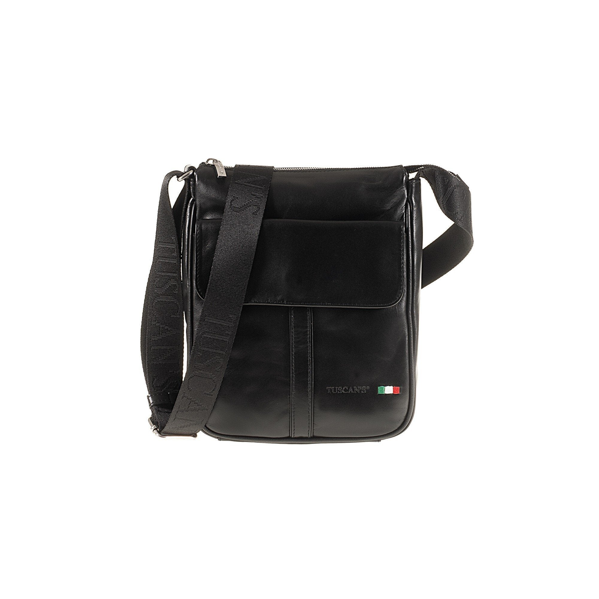 Tuscans 'Algol' Men's Leather Messenger Bag Messenger Bag Tuscans Black