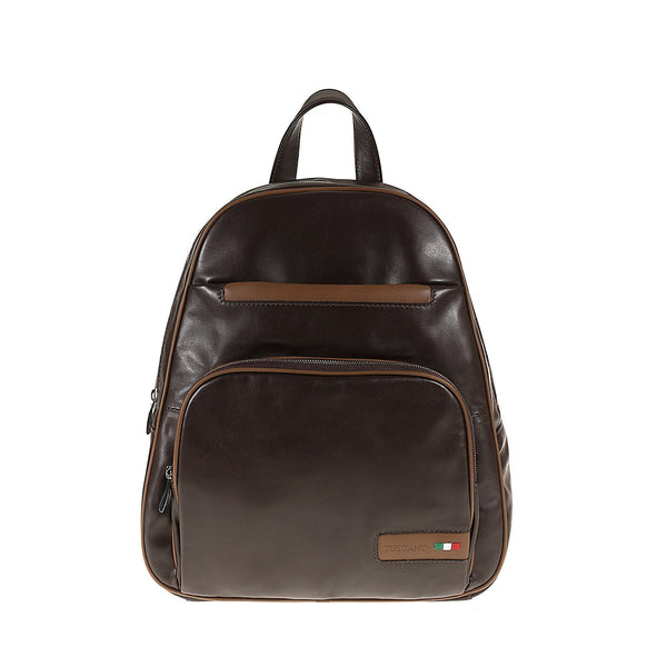 Tuscans 'Alcor' Men's Leather Backpack Bag Backpack Tuscans Brown/Taupe