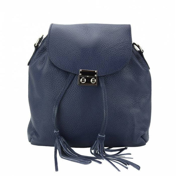 Made In Tuscany 'Bougainvillea' Leather Backpack Backpack Made in Tuscany Dark Blue