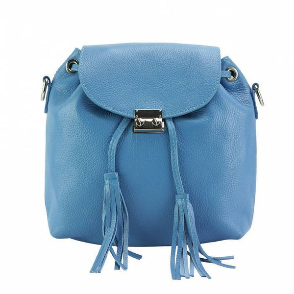Made In Tuscany 'Bougainvillea' Leather Backpack Backpack Made in Tuscany Light Cyan