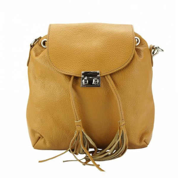 Made In Tuscany 'Bougainvillea' Leather Backpack Backpack Made in Tuscany Tan