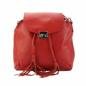 Made In Tuscany 'Bougainvillea' Leather Backpack Backpack Made in Tuscany Light Red