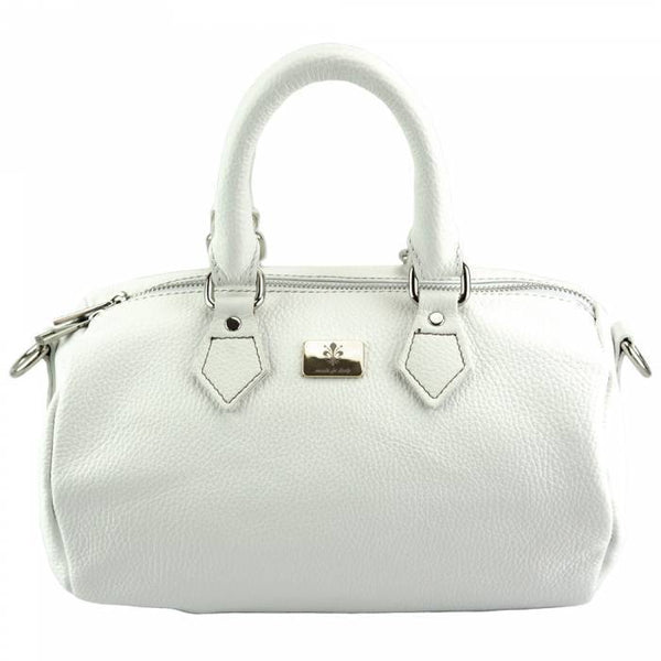 Made In Tuscany 'Moira T' Leather Handbag Handbag Made in Tuscany White