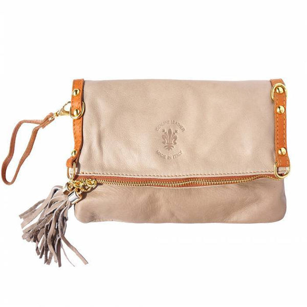 Made in Tuscany 'Giorgia GM' Clutch Leather Shoulder Bag
