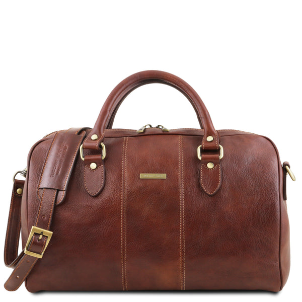 Tuscany Leather Traveller 'Lisbona ' Leather Cabin Duffle Bag (55Cm) - Large Duffle Bag Tuscany Leather Brown