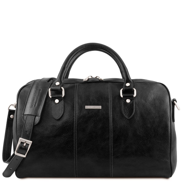 Tuscany Leather Traveller 'Lisbona ' Leather Cabin Duffle Bag (55Cm) - Large Duffle Bag Tuscany Leather Black