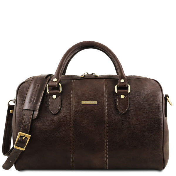 Tuscany Leather Traveller 'Lisbona ' Leather Cabin Duffle Bag (49Cm)- Small Duffle Bag Tuscany Leather Dark Brown