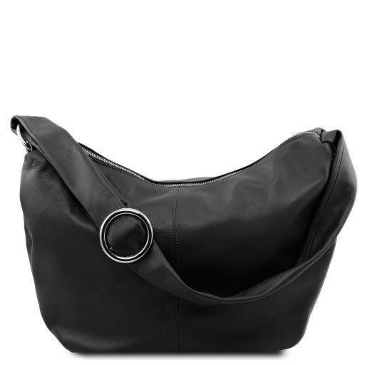 Tuscany Leather 'Yvette' Soft Leather Hobo Bag (TL140900) Ladies Shoulder Bag Tuscany Leather Black