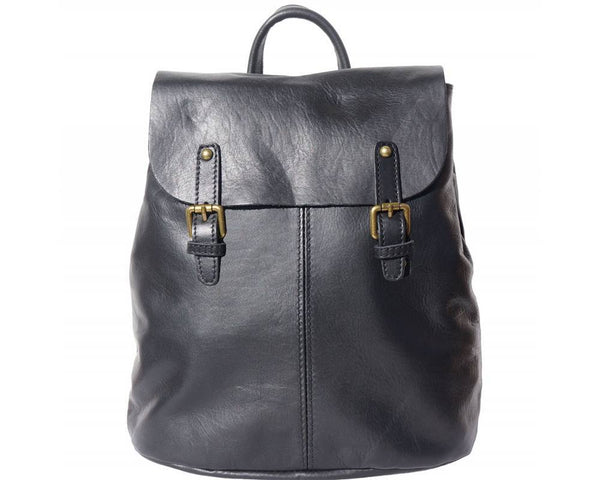 Made In Tuscany 'Vara' Leather Backpack Backpack Made in Tuscany Black