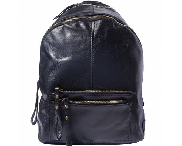 Made In Tuscany 'Springs' Soft Italian Leather Backpack Backpack Made in Tuscany Black