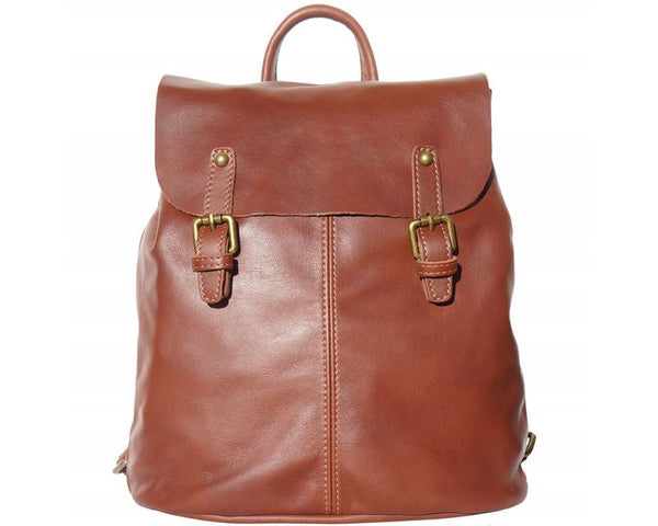 Made In Tuscany 'Vara' Leather Backpack Backpack Made in Tuscany Brown