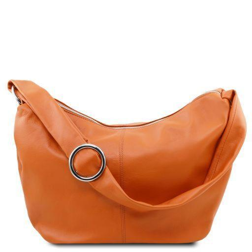 Tuscany Leather 'Yvette' Soft Leather Hobo Bag (TL140900) Ladies Shoulder Bag Tuscany Leather Cognac