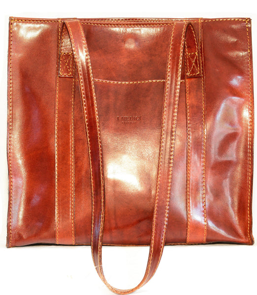 "I Medici Italian The ""Classic Leather"" Bag – Casual Handbag I Medici Italian Brown"