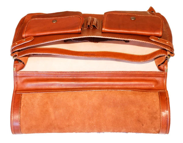 "I Medici Italian ""Cartellone"" 17"" Leather Laptop Bag Briefcase I Medici Italian"