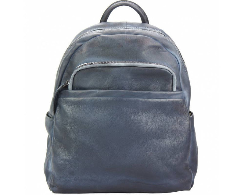 Made In Tuscany 'Jake' Leather Backpack Backpack Made in Tuscany Dark Blue
