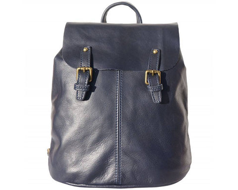 Made In Tuscany 'Vara' Leather Backpack Backpack Made in Tuscany Dark Blue