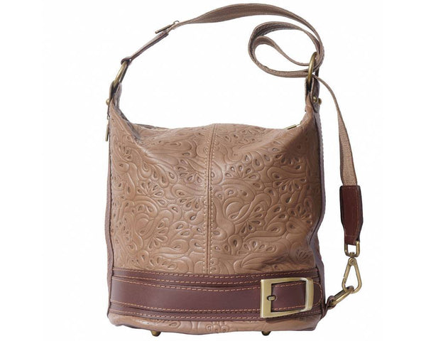 Made In Tuscany 'Caterina S' Leather Backpack Backpack Made in Tuscany Dark Taupe Brown