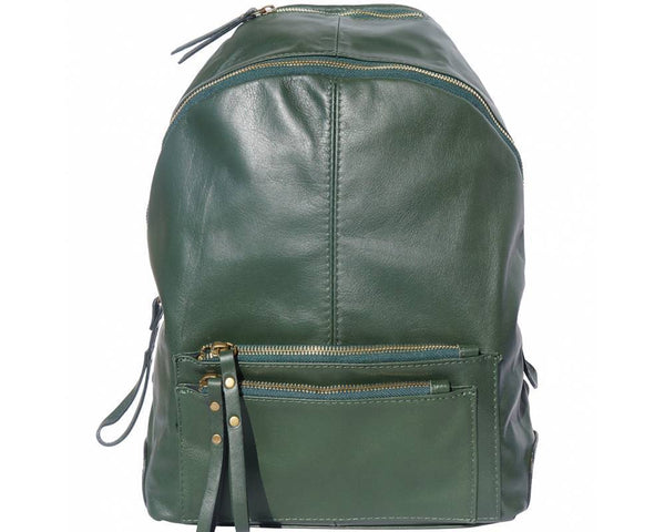 Made In Tuscany 'Springs' Soft Italian Leather Backpack Backpack Made in Tuscany Green