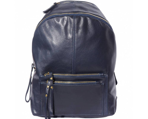 Made In Tuscany 'Springs' Soft Italian Leather Backpack Backpack Made in Tuscany Dark Blue
