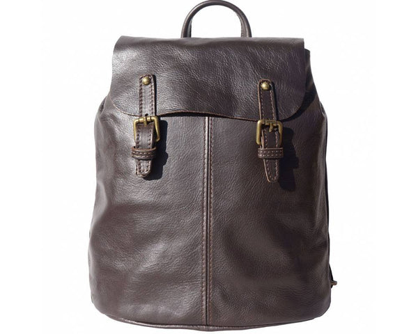 Made In Tuscany 'Vara' Leather Backpack Backpack Made in Tuscany Dark Brown