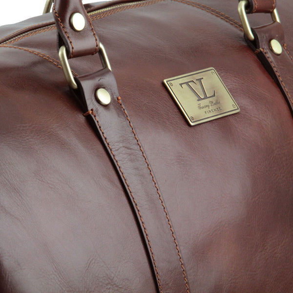 Tuscany Leather 'TL Voyager' Travel Leather Duffle Bag - Large (TL141247) Duffle Bag Tuscany Leather