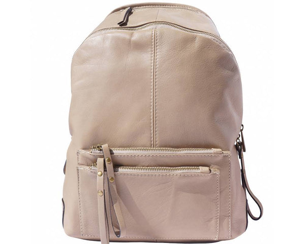 Made In Tuscany 'Springs' Soft Italian Leather Backpack Backpack Made in Tuscany Light Taupe