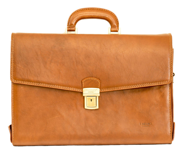 "I Medici Italian The ""Classic Italian"" Leather Briefcase Briefcase I Medici Italian Brown"