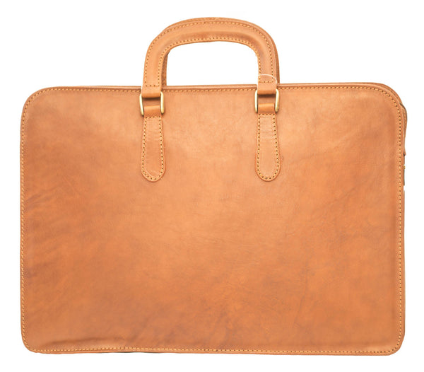 "I Medici ""The Cartella Due Manici"" Leather Briefcase Briefcase I Medici Italian Brown"