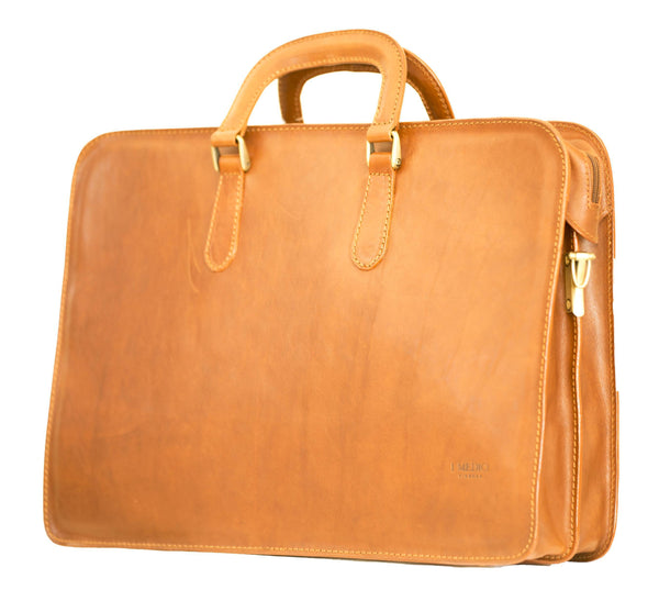 "I Medici ""The Cartella Due Manici"" Leather Briefcase Briefcase I Medici Italian"
