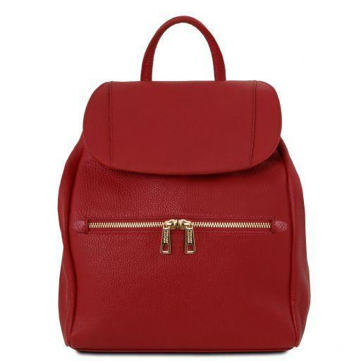 Tuscany Leather Soft Leather Backpack For Women (TL141697) Backpack Tuscany Leather Red