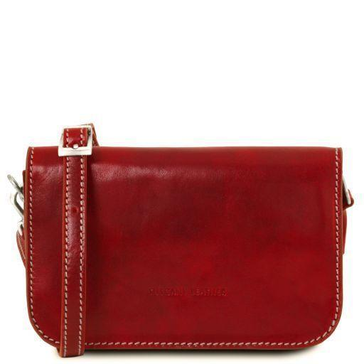 Tuscany Leather Classic 'Carmen' Leather Shoulder Bag With Flap Ladies Shoulder Bag Tuscany Leather Red