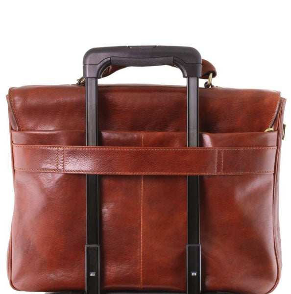 Tuscany Leather 1st Class 'Alessandria' Leather Multi-Compartment TL Smart Laptop Briefcase Laptop Briefcase Tuscany Leather