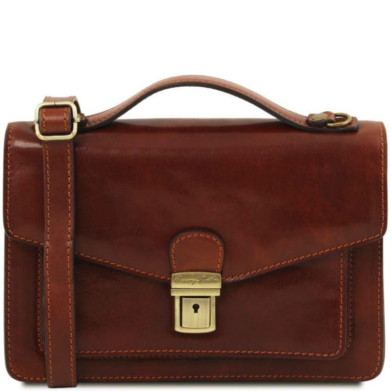 Tuscany Leather 1st Class 'Eric' Leather Briefcase Briefcase Tuscany Leather Brown