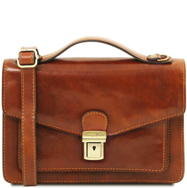 Tuscany Leather 1st Class 'Eric' Leather Briefcase Briefcase Tuscany Leather Honey