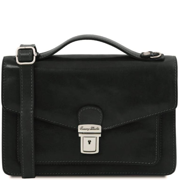 Tuscany Leather 1st Class 'Eric' Leather Briefcase Briefcase Tuscany Leather Black