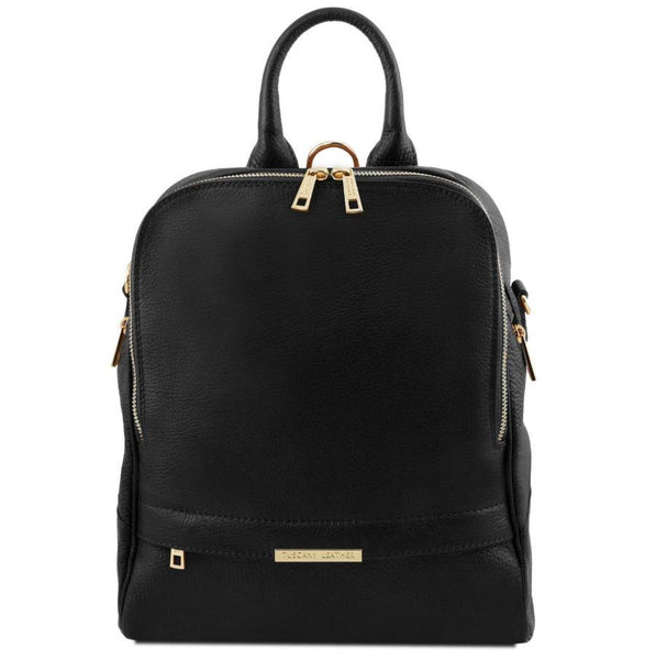 Tuscany Leather 'TL Bag' Soft Leather Backpack For Women (TL141376) Backpack Tuscany Leather Black
