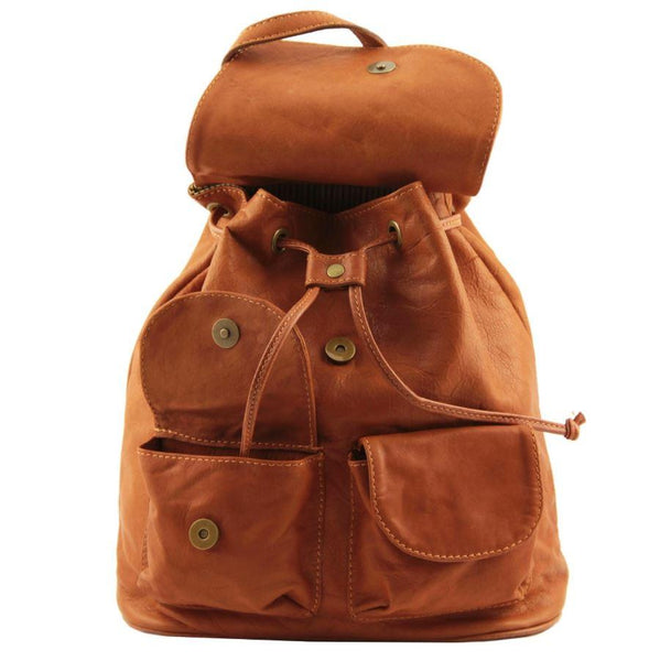 Tuscany Leather Classic Seoul Leather Backpack (Small) Backpack Tuscany Leather
