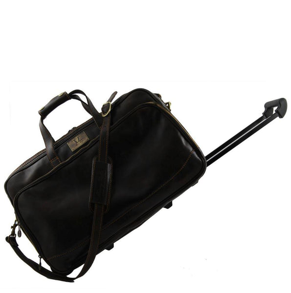 Tuscany Leather Traveller 'Bora Bora ' Leather Trolley Cabin Duffle Bag (50Cm) Leather Trolley Bag Tuscany Leather