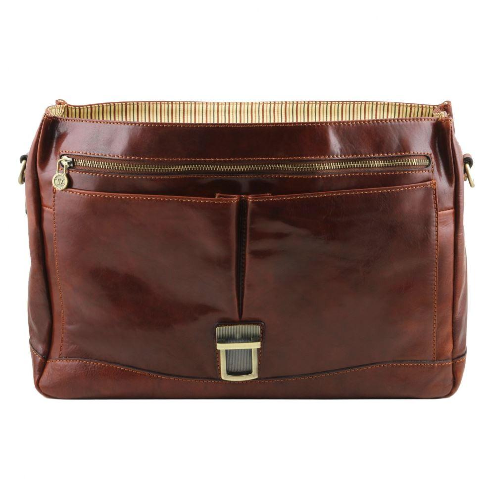Tuscany Leather 1st Class 'Mantova' Leather Multi Compartment Briefcase Laptop Briefcase Tuscany Leather
