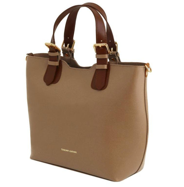 Tuscany Leather TL Bag Saffiano Leather Handbag Bag (TL141696) Handbag Tuscany Leather